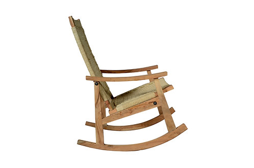 Rocking Chair Bleached Jute