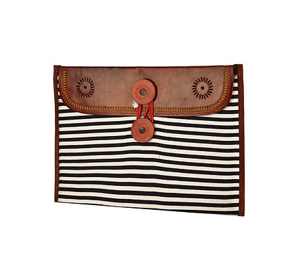 Leather and  Assorted Mashru I Pad Case