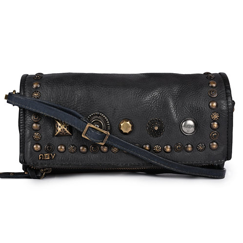 ANV 009  Cross Body Design Concho Rivetted