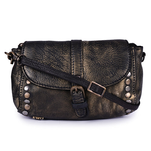 ANV 011 Cross Body Small Wallets in Metallic Leather