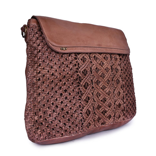 ANV 002 Cross Body Back Pack Bag Macrame Design