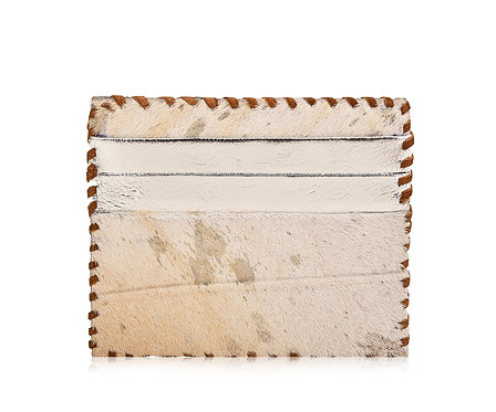 Hair On Leather Card Holder Double Sided