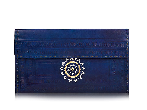 Zari Embroidery Leather Wallet