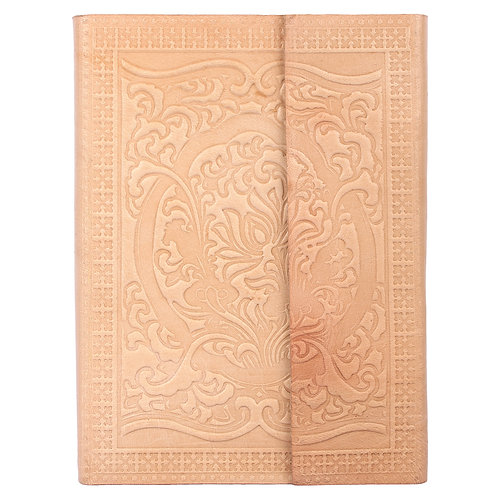 Leather Embossed Three Fold Journal