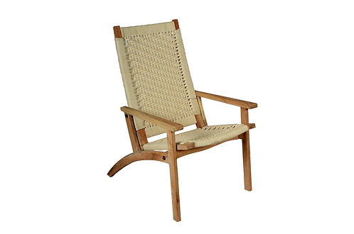 Relaxing Chair Off White Cotton