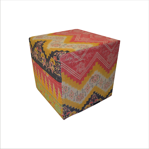 Kantha Cube Side Table
