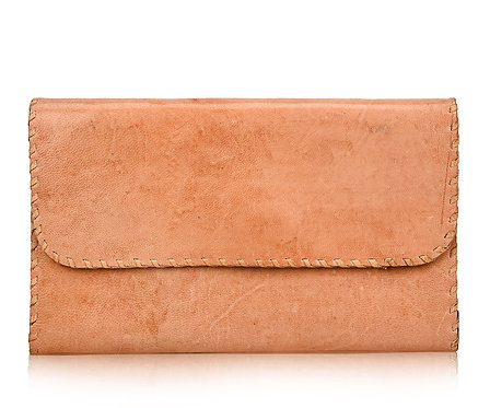 Plain Leather Folding Wallet