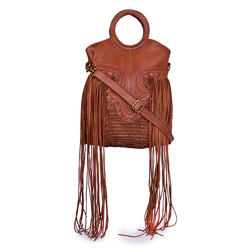 ANV 016 Tote Bag Knitted Leather Cable Group Design
