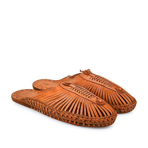 Jali Leather Slippers