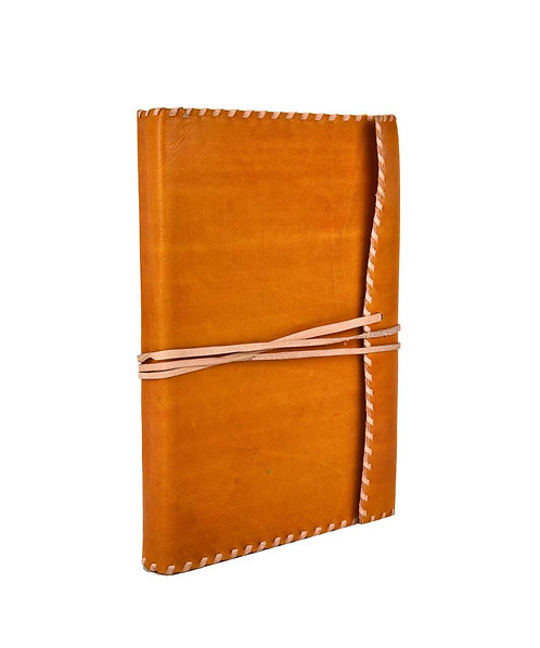 Leather Side Stitch Wrap Journal