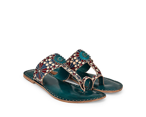Toe Strap Chakra Leather Sandals