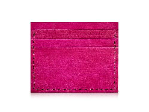 Embossed Leather Card Holder Single