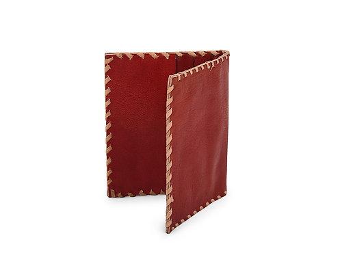 Plain Leather Folding Card Holder