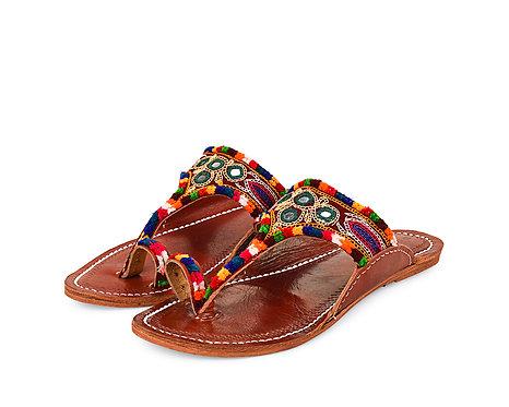 Toe Strap Multi Leather Sandal
