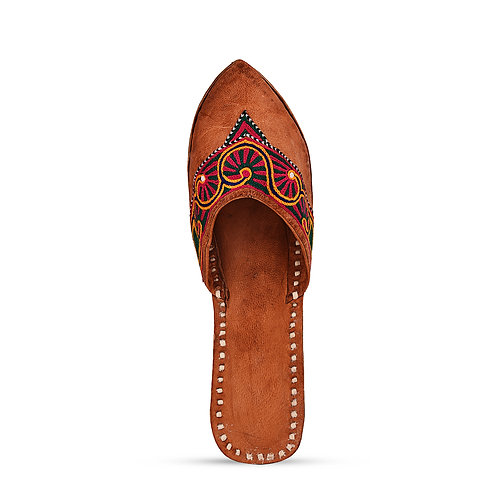 Crewel Embroidery Leather Mojri