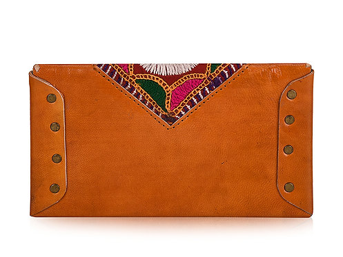 Vintage Fabric Leather Cash Wallet