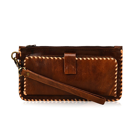 Plain Leather Wristlet Wallet