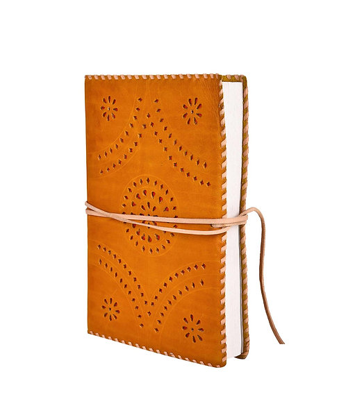Wrap around  Punch  Leather Journal