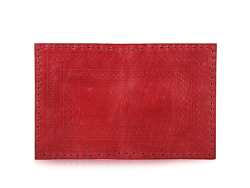 Embossed Leather Folding Card Holder