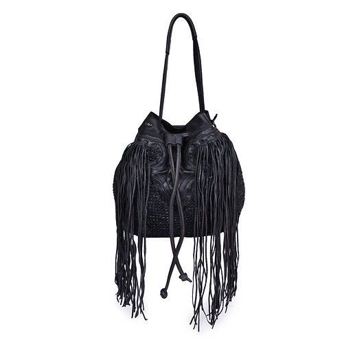 ANV 017 Tote Bag Knitted Leather Cable Group Design