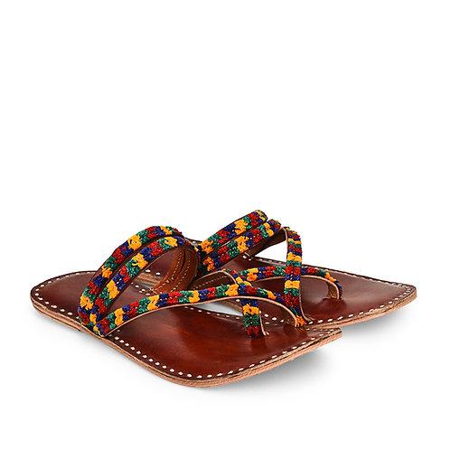 Toran Cross Toe LeatherSandals