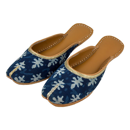 Floral Indigo Blue Sliders