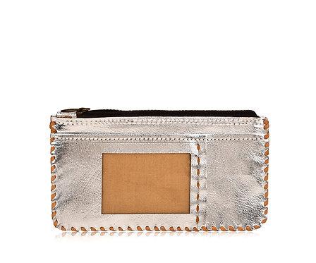 Metallic Leather Photo Wallet