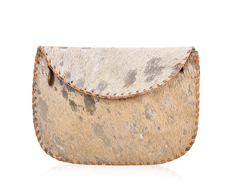 Hair On Hide Round Wallet