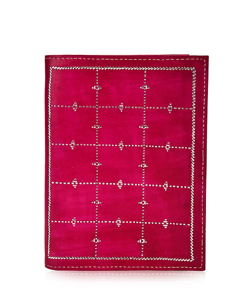 Zari Embroidery Leather Journal