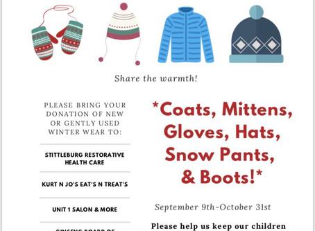 Community Winter Wear Clothing Drive