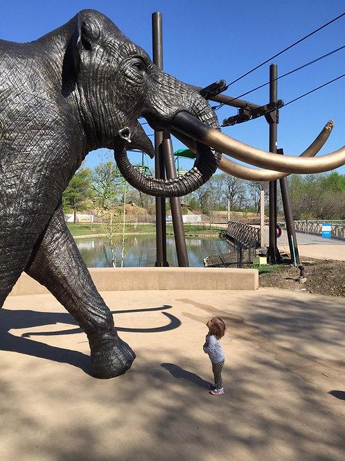 Life-size Columbian Mammoth Bronze