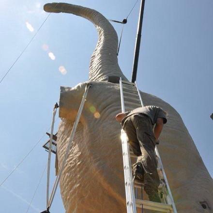 Life-size Brachiosaurus sculpture for In