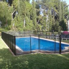Installed around pool roman-end..