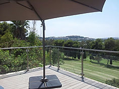 Glass Pool Balustrade, Stainless Steel, Semi-Frameless, Frameless, Glass Barriers, Pool Safety, Estepona, Marbella, Sotogrande, 316 marine grade glass clamps, stainless steel glass posts,