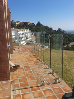 Glass barrier installed with 16mm glass
