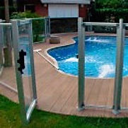 Plexi Glass IASO Pool Self Closing Safety Gate, Magna Latch, Tru-Close Hinges