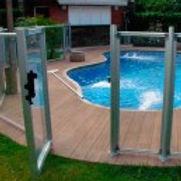 Plexi Glass IASO Pool Self Closing Safety Gate, Magna Latch, Tru-Close Hinges