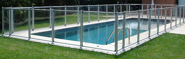 Plexi Glass IASO Pool Safety Fencing, Possible to Remove