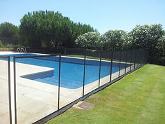 Removable Pool Fences, Estepona, Marbella, Sotogrande, Black Safety Mesh Removable Fences, Barriers, Colours of removable fencing,