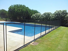 Removable Pool Fences, Estepona, Marbella, Sotogrande, Black Safety Mesh Removable Fences, Barriers, Colours of removable fencing,