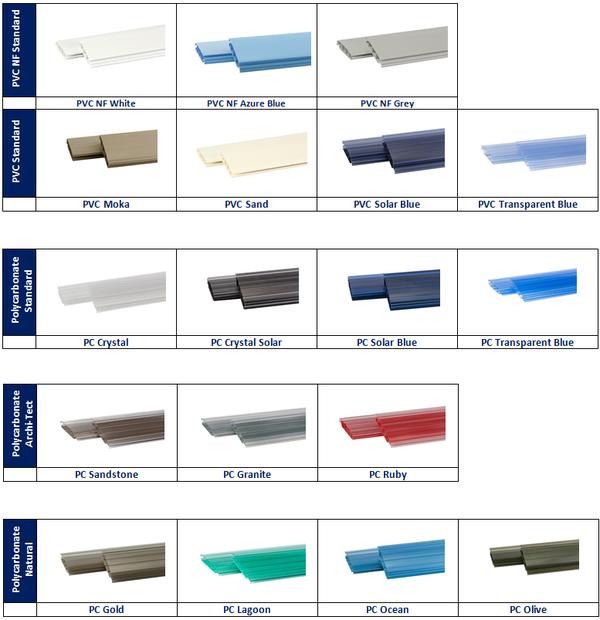 Polycarbonate, PVC or Solar Slats
