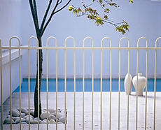 Steel Hooped Pool Barriers, Pool Fence, Any Colour, Bespoke Design, Powder Coating, Estepona, Marbella, Sotogrande, Manilva, Duquesa, Elviria, Mijas, Calahonda, Pool Safety Fencing
