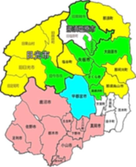 栃木県ポスティング配布エリアマップ