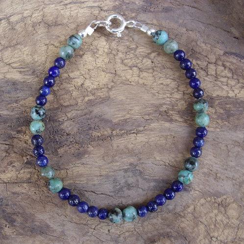 Lapis-lazuli – Turquoise africaine 4 mm