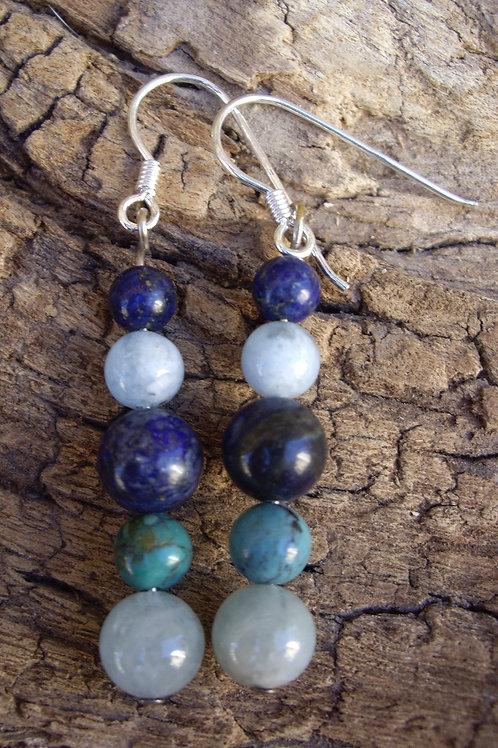 Aigue-marine – Lapis-lazuli – Turquoise Tibet