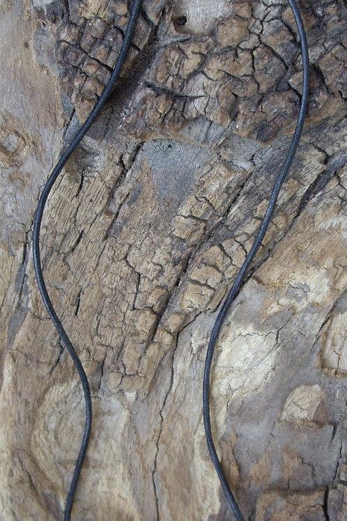 Cordon cuir et argent 925 pour pierre percée
