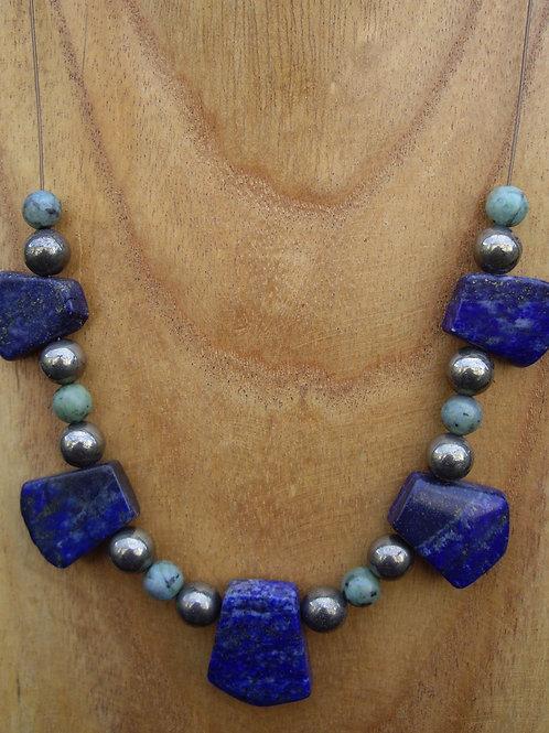 Lapis-lazuli – Turquoise – Pyrite - DM