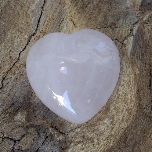 Coeur quartz rose 25 mm 12g