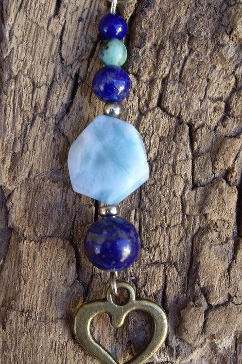 Cœur – Larimar – Lapis-lazuli