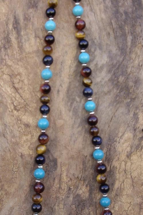 Trois œils - Turquoise Tibet 6 mm